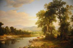 A River Landscape - Asher Brown Durand 1858