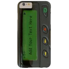 Funny 90s Old School Pager with Custom Text - Personalized iPhone 6 case for you. Sample image : #fun #retro #old #school #geek #vintage #geeky #90s #message #pager #funny #casette #music #80s #text #personalized #unique
