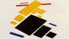 Conheça Composição Suprematista: Avião Voando, de Kasimir Malevich