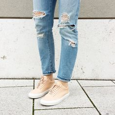 tifmys - Zara ripped denim and Vans x and other Stories sneakers.