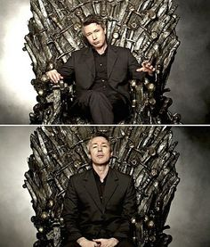 Aidan Gillen on the Iron Throne. I had to, he would be a fantastic king of Westeros