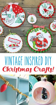 Happy Friday friends! I've gathered up some of my very favorite vintage inspired DIY Christmas Crafts! If you love vintage and retro style Christmas decor this list is sure to get you inspired to start creating! Vintage Style Christmas Wreath Vintage Snowglobe Ornaments Vintage Style Ornaments Tinsel Christmas Wreath Silver Bells Ruler Christmas Tree North …