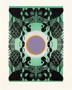 """Lilla, von Anya Triestram für die Edition women III – art in print Sacred Geometry Symbols, Club, Artwork, Women, Carpet, Geometric Drawing, Woodblock Print, Silk Screen Printing"
