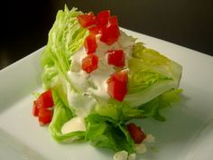 Top Secret Recipes | Lone Star Steakhouse Lettuce Wedge Salad Copycat Recipe with Blue cheese dressing