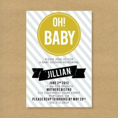invite idea- Oh! Baby