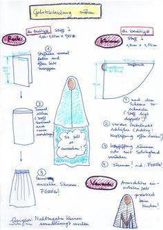 khimar with sleeves pattern - Google Search