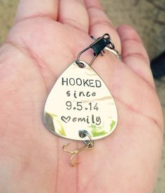 A personal favorite from my Etsy shop https://www.etsy.com/listing/247471452/fishing-lure-for-him-boyfriend-gift