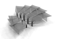 Wuxi Grand Theatre by PES-Architects - structural model