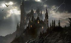 dark City Fantasy art Artwork Wallpapers HD Desktop and Fantasy Kunst, Fantasy City, Fantasy Castle, Fantasy Places, Medieval Fantasy, Fantasy World, Dark Fantasy, Fantasy Artwork, Fantasy Art Landscapes
