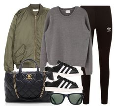 """Sin título #11841"" by vany-alvarado ❤ liked on Polyvore featuring adidas Originals, Chanel and Ray-Ban"