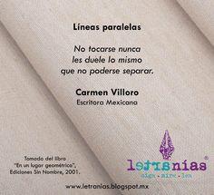 Oiga · Mire · Lea a Carmen Villoro en Letranías.