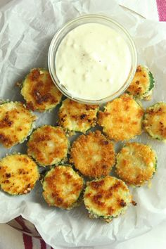 Crispy Zucchini Bites with Aioli Dip are so crunchy good! Crusted in panko breadcrumbs and fried until golden and crispy, you will love these tasty bites. Vegetable Side Dishes, Side Dishes Easy, Cooking Recipes, Healthy Recipes, Healthy Meals, Healthy Fridge, Snacks Recipes, Healthy Baking, Fall Recipes