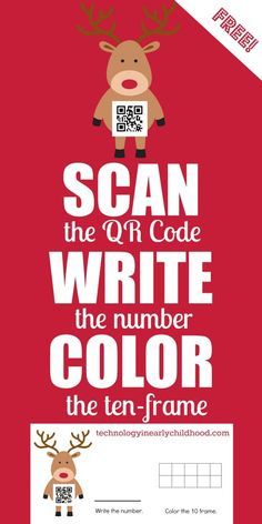 Holiday QR Codes and Ten Frames for Practicing Numbers 0-9