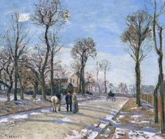 1870 La route de Versailles à Louveciennes