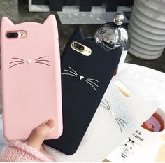 OLLIVAN For iPhone 7 case Lovely Moustache Cat case for iPhone 6 5 plus case Soft Silicon Back Cover for iPhone 7 plus Iphone 5s, Iphone 7 Coque, Iphone 5 Case, Apple Iphone, Cute Cases, Cute Phone Cases, Black Iphone 7, Accessoires Iphone, Cheap Phone Cases