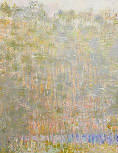 Wolf Kahn - Tending Toward Silver, 2007 (oil on canvas).  So subtle and stunning.