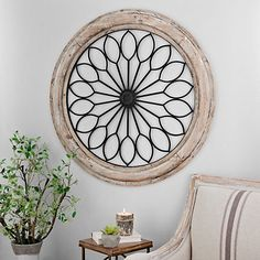 Our Rustic Circle Medallion Wall Plaque makes bringing style to your home decor easy. With a rustic, antique design, it's sure to complement any room. Country Decor, Rustic Decor, Medallion Wall Decor, Simple Wall Art, Room Wall Decor, Bedroom Wall, Outside Wall Decor, Family Room Design, Modern Farmhouse Decor
