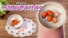 How To Miniature Strawberry Tutorial // DIY Miniature Food