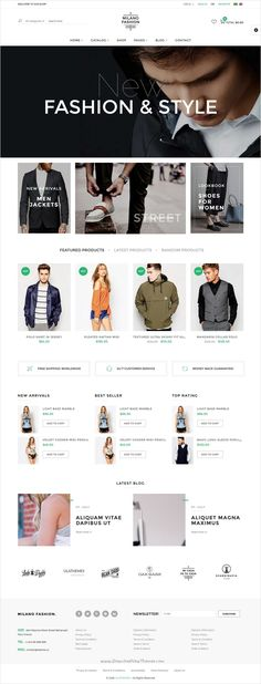Milano is perfectly design responsive Virtuemart #Joomla template for amazing #fashion #store eCommerce website with 9 multipurpose homepage layouts download now➩ https://themeforest.net/item/milano-fashion-responsive-virtuemart-template/17454522?ref=Datasata