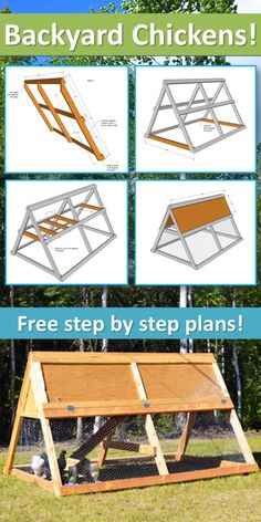Ana White Build a A Frame Chicken Coop Free and Easy DIY Project and Furniture Plans A Frame Chicken Coop, Chicken Barn, Easy Chicken Coop, Chicken Coup, Portable Chicken Coop, Backyard Chicken Coops, Building A Chicken Coop, Chickens Backyard, Chicken Coop Plans Free