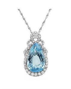Ladies Topaz Necklace   Sterling Silver