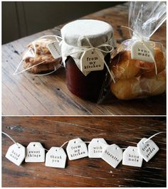 homemade food tags Paper Boat Press