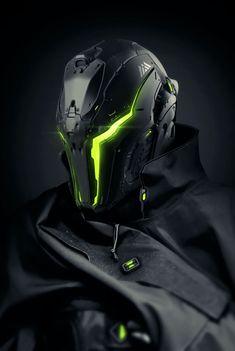 """the-dead-orbit: """" WARLOCK helmet concept As seen on the Creations page: https://www.bungie.net/en/Community/Detail?itemId=209399265 """""""