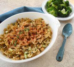 Tofuna noodle casserole or skillet recipe