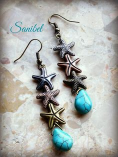 Sanibel earrings designed by Erin Prais-Hintz for Halcraft USA's Pretty Palettes featuring Bead Gallery beads from @michaelsstores  #madewithmichaels