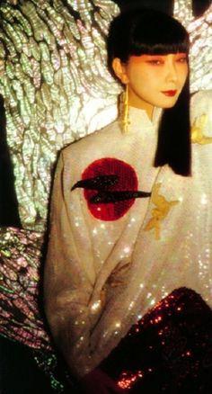 Sayoki Yamaguchi for Kansai Yamamoto, 1982.