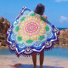 Lotus Printed Beach Throw - Elsie's Attic
