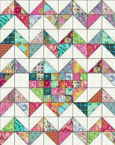Youre going to love iHeart Chevrons Quilt Pattern by designer Marie Joerger. - via Craftsy Half Square Triangle Quilts – co-nnect. A quick and easy project using your sewing machine. Make adorable patchwork placemats using Chevron Baby Quilts, Baby Quilts Easy, Chevron Quilt Pattern, Heart Quilt Pattern, Quilt Baby, Lap Quilts, Strip Quilts, Patch Quilt, Scrappy Quilts