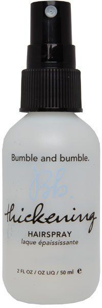 Pin for Later: 70 Fab Beauty Stocking Fillers For £10 and Under Bumble and Bumble Thickening Hairspray Bumble and Bumble Thickening Hairspray (£8)