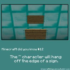 Minecraft did you know...?