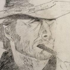 Clint Eastwood by ArtByMichaelGallaghe on Etsy