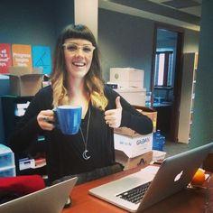 Erin needs her morning coffee
