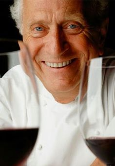 Chef Michel Roux.     8/12 I bought one of his cookbooks called 'EGGS'.   It is so beautiful and informative!  I have learned to bake eggs for breakfast!   Rita