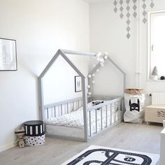 Big kid room. Love the house frame bed!