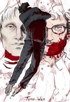 "reapersun KILLED the art for ""Tome-wan,"" starting tonight at 10/9c. Hannibal Tv Series, Nbc Hannibal, Hannibal Lecter, Will Graham, Hugh Dancy, Illustrations, Best Tv Shows, Supernatural, Photo Art"