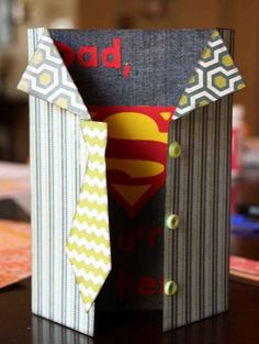 "1. Superhero Card | 10 DIY Father's Day Gifts That Will Make Dad Say ""WOW!"" #fathersday Father's Day gifts"