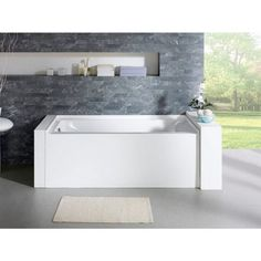 Garden is really an enjoyable action to unwind. How exactly to select Delano 59-inch x 32-inch White Rectangle Alcove Soaking Bathtub (Right) ( alcove soaking tub #6) turned among the important areas of gardening. Delano 59-inch x 32-inch White Rectangle Alcove Soaking Bathtub (Right) ( alcove soaking tub #6).
