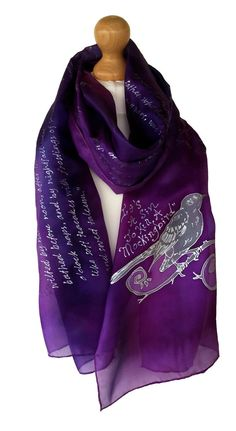 A hand-painted To Kill a Mockingbird scarf? Yes please! For ourselves, or as a gift idea for a bookworm.