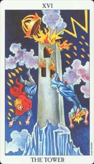 Tower Tarot Card Meaning -  Nothing built on a lie, on falsehoods, can remain standing for long