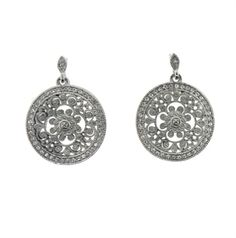 Antique Style Silver Drop Earring