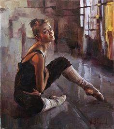 Creation', 2010 by Michael & Inessa Garmash Ballet Painting, Music Painting, Ballerina Art, Ballet Art, Ballet Dance, Painting People, Figure Painting, Hyperrealism Paintings, Dance Pictures