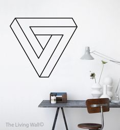 Escher géométrique Wall Decor Triangle Eschers Wall par LivingWall