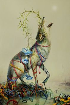 Martin Wittfooth Explores Clash of Contemporary Experience, Nature in New Show | Hi-Fructose Magazine