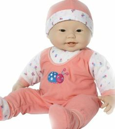 "JC Toys 20"" Lots to Cuddle Asian - (Outfits May Vary) by JC Toys. $29.99. Assorted expressions. Measures 20"". Soft body doll. From the Manufacturer                2 years & up. The perfect doll for EXTRA hugging and loving. The highly lovable 20"" Lots to Cuddle Babies are simply irresistible with their adorable expressions and soft body.                                    Product Description                3 years & up. The perfect doll for EXTRA hugging and loving! This h..."