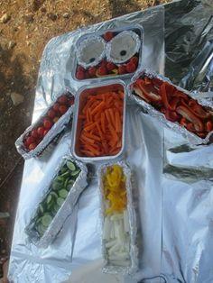 Children's Frugal Robot Birthday Party- A Robot Veggie Platter | Penniless Parenting