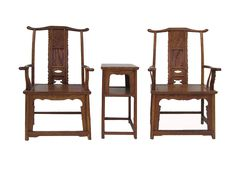 Chinese Yoke-Back Yellow Rosewood Armchair Set wk2620S                                                                                                                                                                                 More